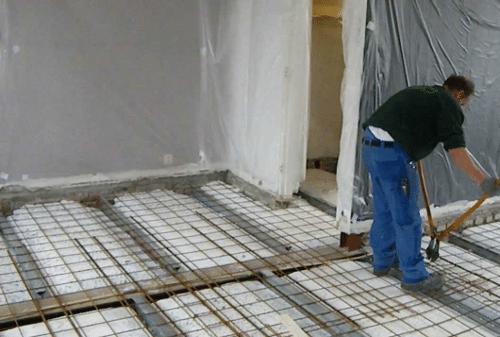 Verwarming voor de vloer in huis